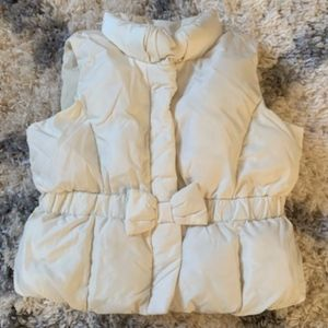 Baby Gap 6-12 month puffer vest with bow